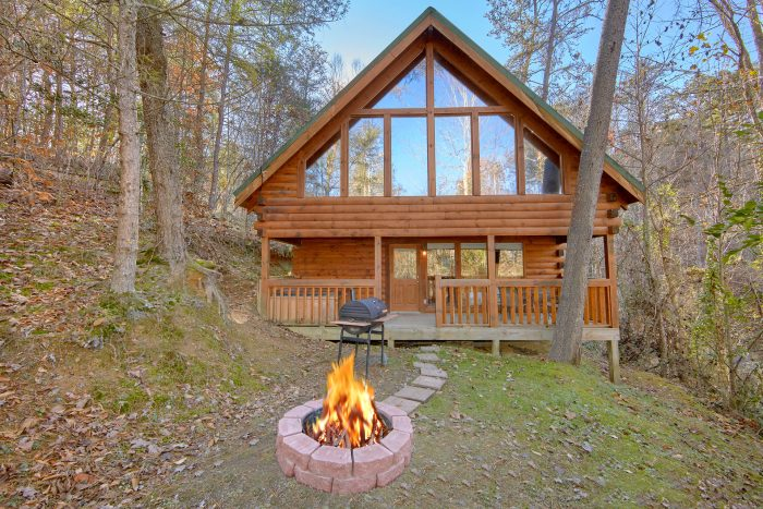 Fire Pit in Back Yard 2 Bedroom Cabin - Making More Memories