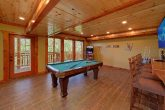 8 Bedroom Cabin with a Pool Table