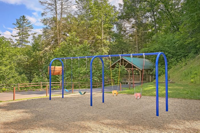 Cabin with Resort Playground and Pool - Moonshine Inn