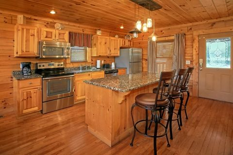 Cabin with granite counters and custom lighting - Moonshine Manor