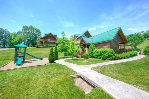 Cabin with Resort swimming pool and playground - Moonshine Manor