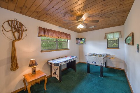 Game Room with foosball and air hockey game - Mountain Breeze