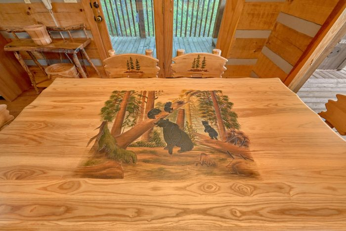 Custom Dining Table with seating for 6 guests - Mountain Glory