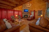 Living Room with fireplace in 5 bedroom cabin