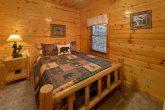 Rustic Log Queen bed in 5 bedroom cabin