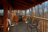 Luxury cabin with a grill, hot tub and rockers