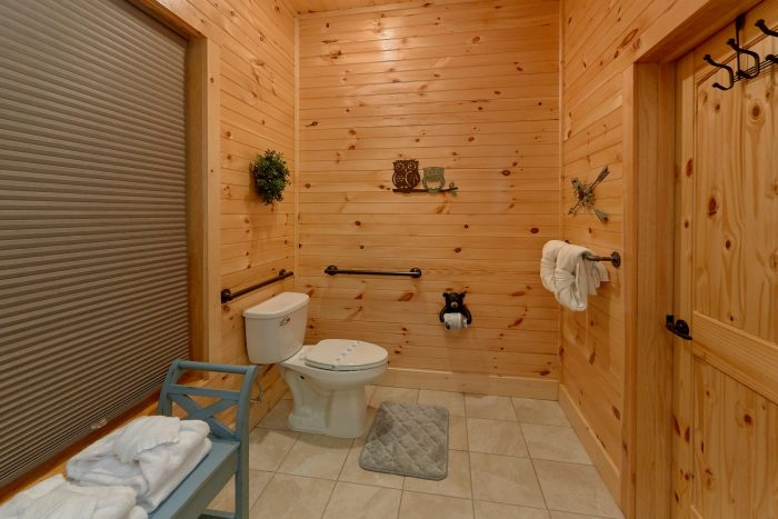 8 Bedroom Cabin with a Handi-cap Accessible Bat - Mountain View Pool Lodge