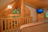 Honeymoon Cabin with Loft King Bedroom