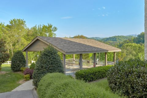 Spacious Covered Picnic Area with Views - My Pigeon Forge Retreat