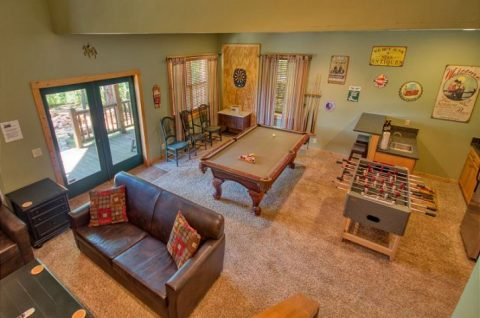 large Open Game Room Extra Seating - Mystic Ridge