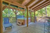 Large Deck with Hot Tub and Chairs