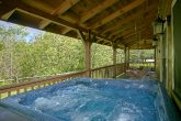 Private hot tub at secluded Gatlinburg Cabin