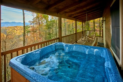 Private Hot tub on deck of 2 bedroom cabin - Oakland #3
