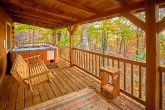 Gatlinburg cabin with hot tub and wooded view