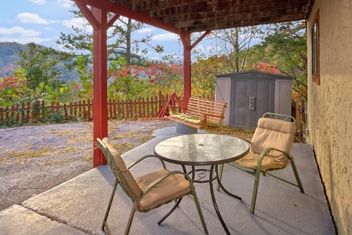 Cabin with Porch Swing and View of the Mountains - Owl's Mountain View