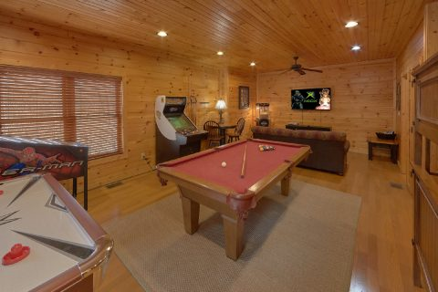 Game Room with Pool Table - Panorama
