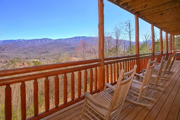 Spectacular View from Gatlinburg 6 Bedroom Cabin - Pool and a View Lodge