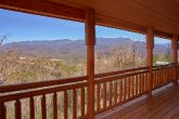 Views of Gatlinburg from deck of 6 Bedroom Cabin