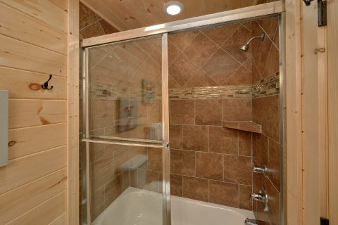 Large Walk in Showers with Two Shower Heads - Pool N Around