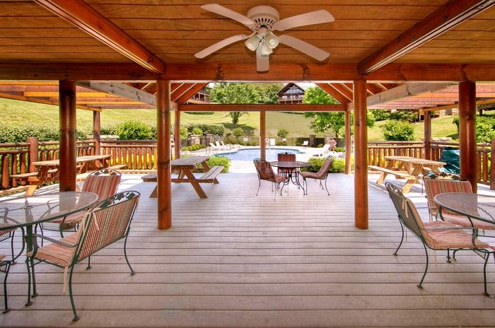 Resort clubhouse at Cabins at the Crossing - Poolside Cabin