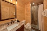 Luxurious bathroom in 7 bedroom rental cabin