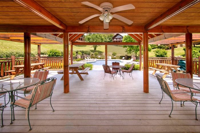 Cabin with Resort Pool and Picnic Tables - Poolside Lodge