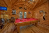 Pool Table Game Area 6 Bedroom Cabin