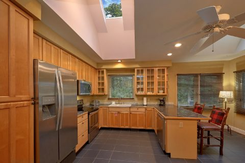 Fully Equipped Kitchen with Bar Area Sleeps 8 - Quiet Time