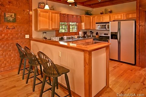Great Kitchen with Additional Bar Seating - Beckham's Bungalow