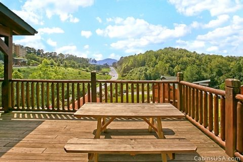 Great Picnic Table on Deck - R & R