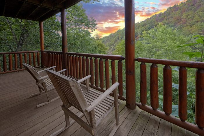 Cabin with Wooded View from back deck - Radiant Ridge