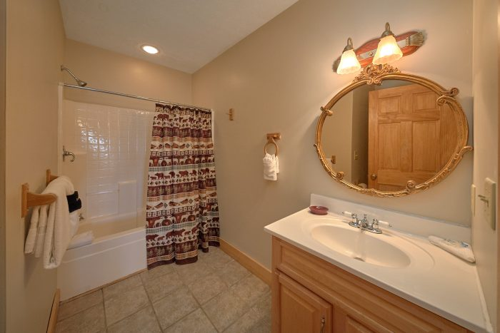 In Suite Master Bathroom 3 Bedroom Cabin - Rare Breed