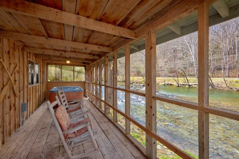 River Cabin with Screened In Porch - River Cabin