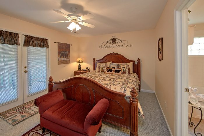 King Bedroom with Private Bath on Main level - River Chase