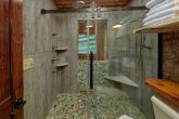 Luxurious shower in Master Bath at cabin