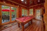 7 bedroom cabin on the river with Pool table
