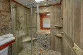 Beautiful TIle Shower in premium 2 bedroom cabin