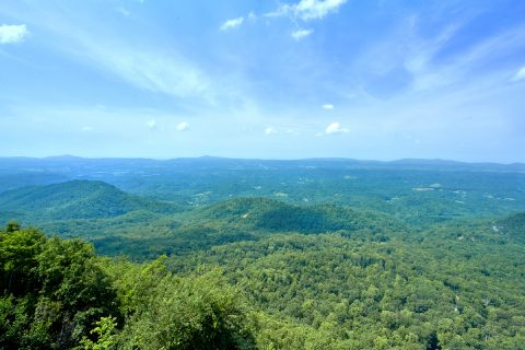 Views of the Smoky Mountains from cabin deck - Ruby's Cliffside