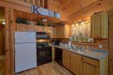 Full kitchen in Private 2 bedroom cabin