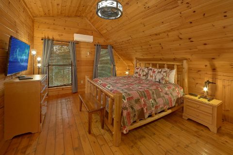 Master Bedroom with King bed and private bath - Running Creek