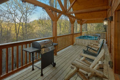 2 bedroom cabin with grill and Hot Tub - Running Creek