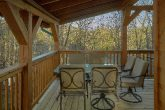 Private cabin with picnic table and hot tub