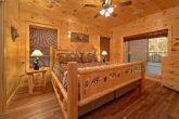 King Bedroom with Private Bath in River Cabin
