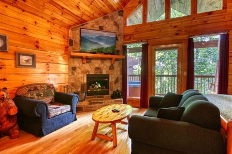 1 Bedroom Cabin Sleeps 5 Pigeon Forge - Saw'n Logs