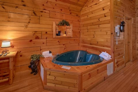 Heart Shape Jacuzzi Tub 1 Bedroom Cabin - Saw'n Logs