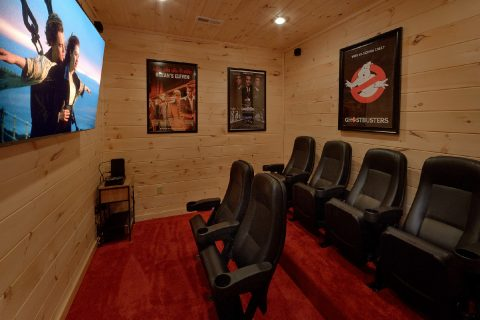 Theater Room 2 Bedroom Cabin Sleeps 6 - Scenic Mountain Pool
