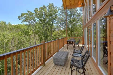 large Wrap Around Deck with Views - Scenic Mountain Pool