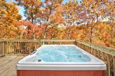 Cabin with multi jet hot tub