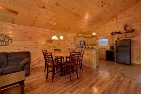 Large Open Floor Plan 2 Bedroom Cabin Sleeps 8 - Serenity