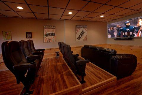 Theater Room 2 Bedroom Cabin - Serenity